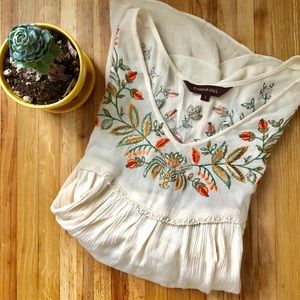 Anthropologie Ranna Gill embroidered top